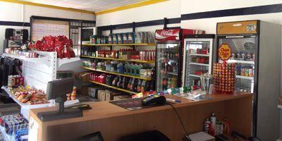 imagen de la tienda de la gasolinera de Alange